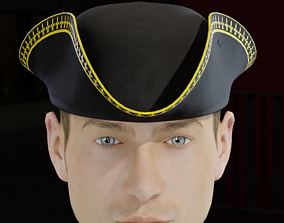 3D model Tricorne Cocked Hat Classic Style