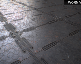 3D asset PBR Seamless Sci-Fi Textures Collection UPDATED