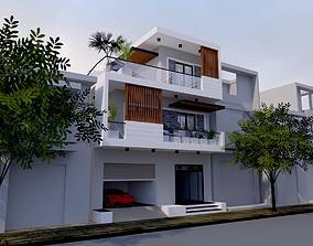 window House design 3d model animated