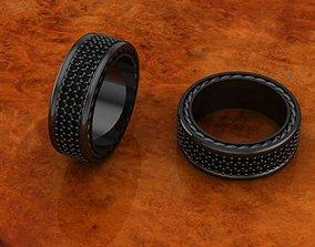 3D printable model David Yurman Streamline 3 Row Ring 10 2