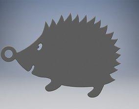 animal Hedgehog Keychain 3D printable model