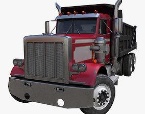 3D asset American Dump truck