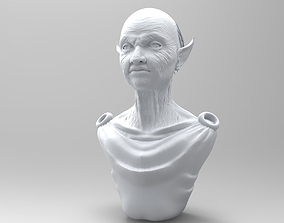 3D model Elderly Elf Torso and Head