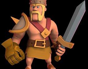 3D asset Barbarian King