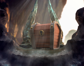 miniatures Pirate chest 3D printable model