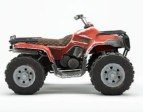 Lowpoly Dirty Quad Bike 3D asset
