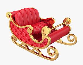 xmas 3D Santa sleigh