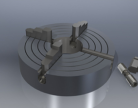 3D print model 4 Jaw Chuck