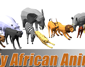 Lowpoly african animal 3D asset