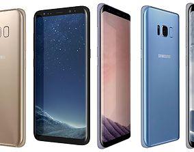 3D model Samsung Galaxy S8 All Colors