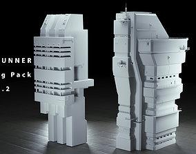 Bladerunner Cyberpunk Buildings vol 2 3D model