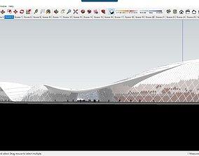Sketchup Cultural center F3 3D