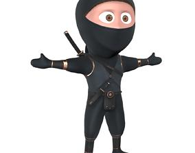 3D model Ninja Cartoon Warrior Character