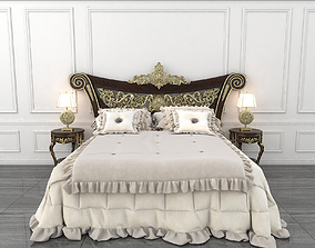 Classic Carved Bed 3D