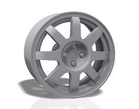 3D print model 8 spokes rim - llanta