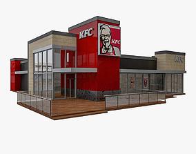 3D KFC Drive Thru Restaurant