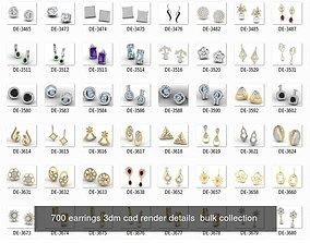 2000 RING EARRINGS PENDANT 3DM RENDER MODEL