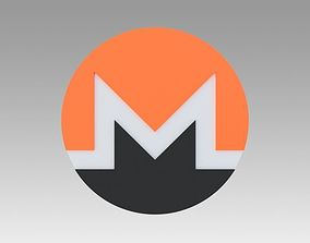 Monero Crypto Currency 3D model