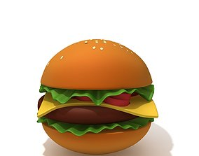 Burger cartoon 3D model