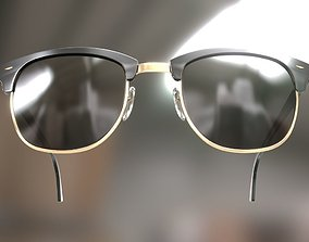 Rayban Clubmaster glasses 3d model