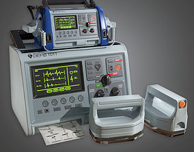 3D asset Medical Defibulator HPL - PBR Game Ready