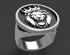 Lion King Ring art 3D printable model