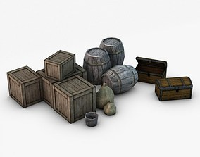 Low Poly Storage Props 3D