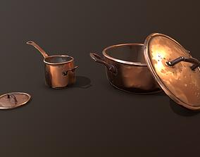 3D asset Pans Stylized GameReady
