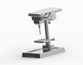 3D print model industrial Stylish Drilling Machine