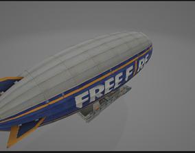 3D model blimp zeppelin aircraft aerostat