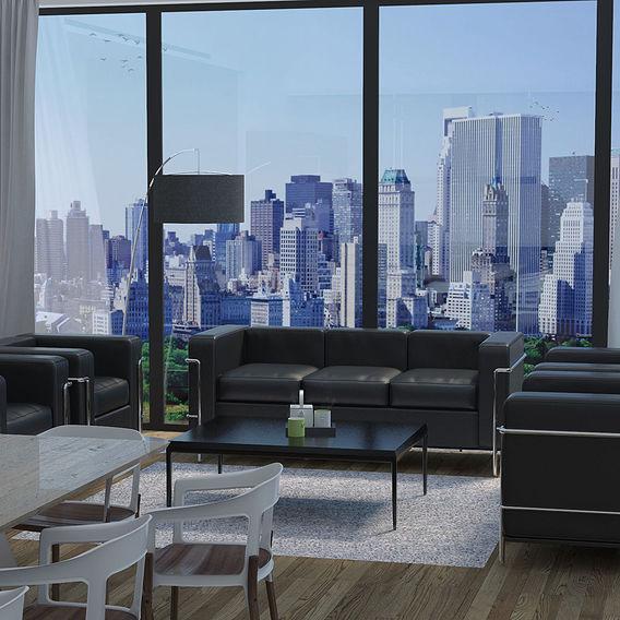 New york Penthouse living room - University Exam