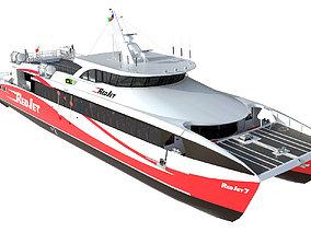 3D model Red Jet 7 Passenger ferry