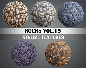 3D asset Stylized Rocks Vol 15 - Hand Painted Texture Pack