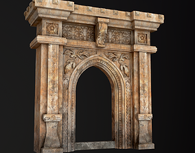 Gothic Stone Arch 3D asset