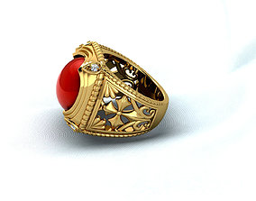 Ruby ring for king 3D print model