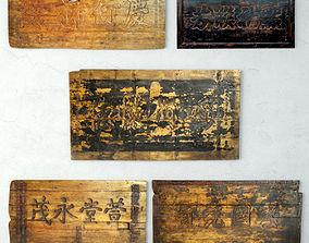 3D model Antique Calligraphy Panels