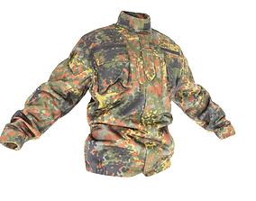 3D model Military jacket of Bundeswehr Uniform with PBR 1