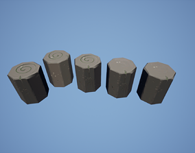 3D asset Stylized Small Low Poly Rocks FREE UE4 Unity