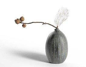 3D Skeleton Plant in Vase