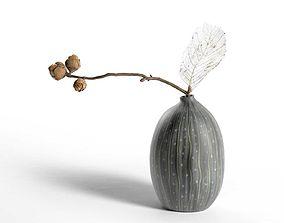 Skeleton Plant in Vase 3D