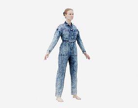 3D model Jeans Salopet 001 A-Pose