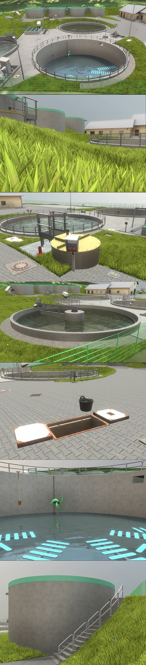 Wastewater Treatment Plant (Blender Eevee)