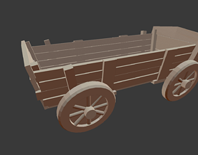 Decorative old cart 3D printable model