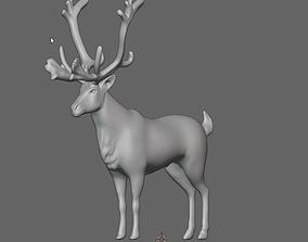 Reindeer with nice Antlers 3D model reindeer