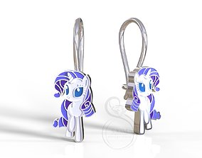 Rarity pony earrings 3D print model