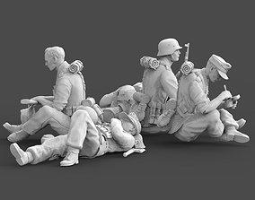 3D print model German soldiers rest german
