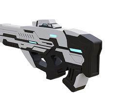 Sci-Fi Gun -Textured - Non destructively modelled