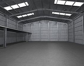 3D asset Industrial Warehouse Low Poly