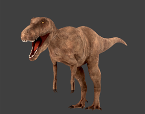 3D model animated low-poly PBR T-Rex
