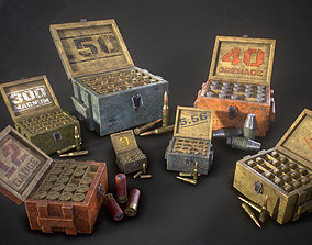 3D model game-ready Ammo boxes